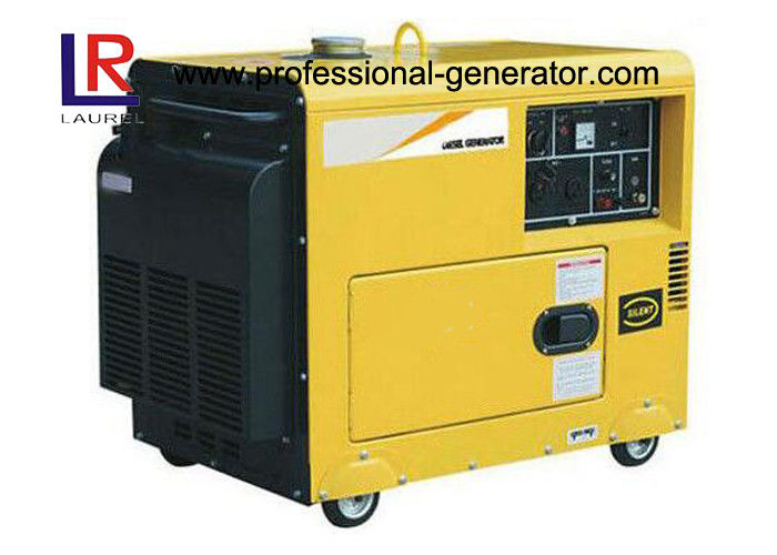 Portable Small 5000W Diesel Generator , Air-cooled Super Quiet Diesel Generators