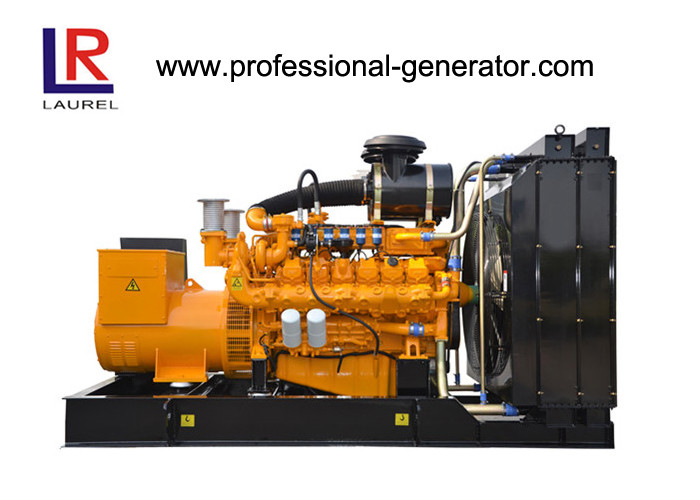 Bio Gas / Dual Gas / Natural Gas Generator with Water Cooled Electric Start , Multi Cylinder 45kw -1600kw