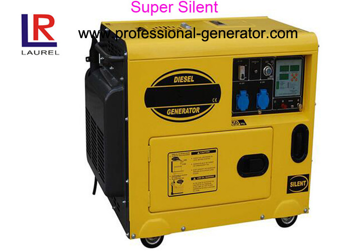 Electric Start 5kw Diesel Driven Generator with AC Single Phase 14.5L Fuel Tank