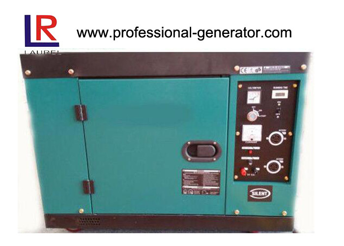 Two Open Doors Type 5kW / 5.5 kW Silent Diesel Generator Low Oil Alarm