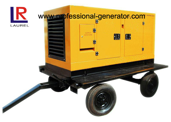 Portable Mobile Power Generator / Trailer Generator With Four Stroke Diesel Engine